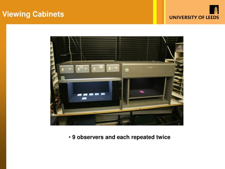 Viewing Cabinets