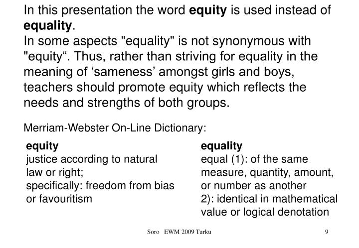 In this presentation the word