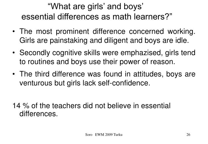 """""""What are girls' and boys'"""