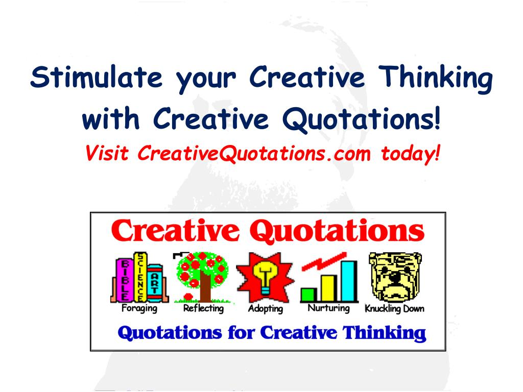 Stimulate your Creative Thinking