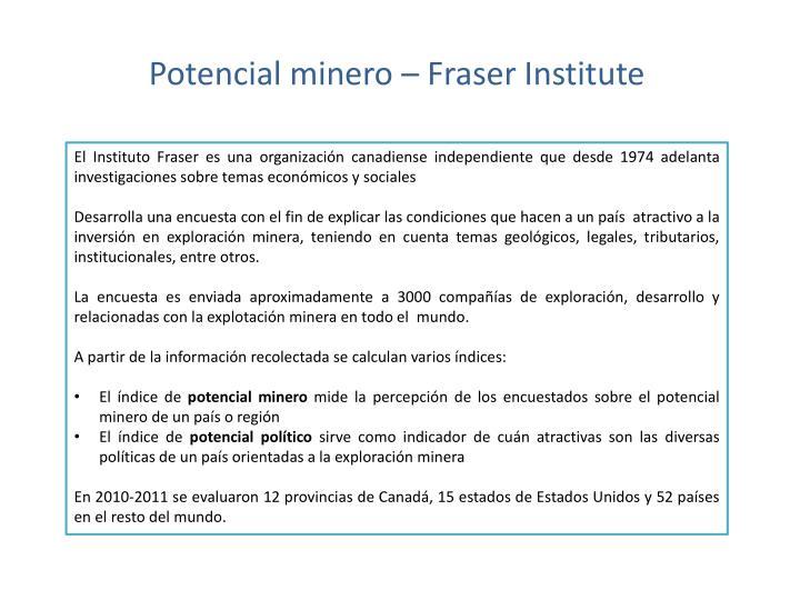 Potencial minero –