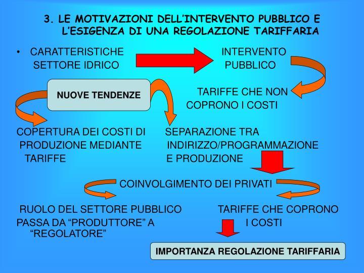 3. LE MOTIVAZIONI DELL'INTERVENTO PUBBLICO E