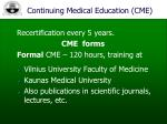 continuing medical education cme