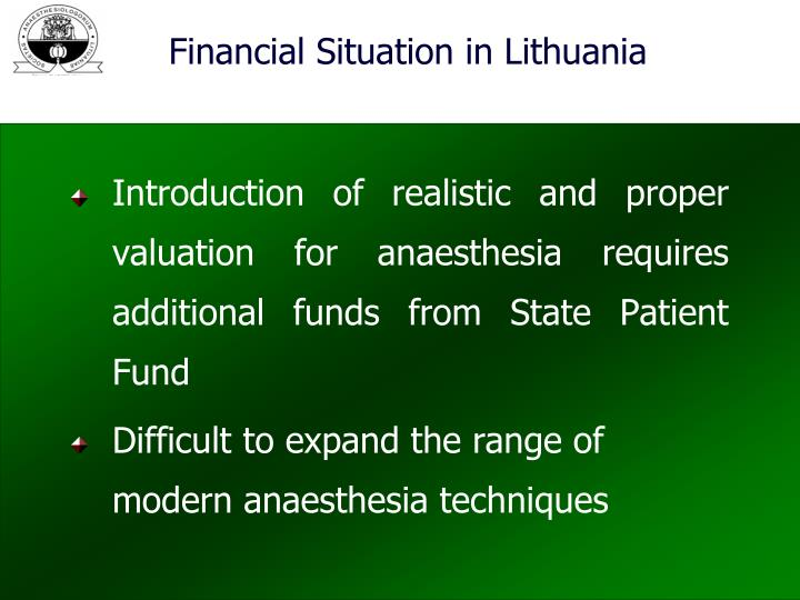 Financial Situation in Lithuania