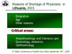 reasons of shortage of physicians in lithuania 2015