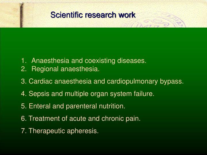 Scientific research work