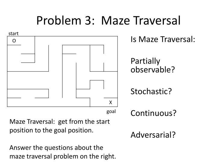Problem 3:  Maze Traversal