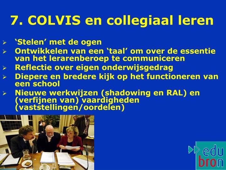 7. COLVIS en collegiaal leren
