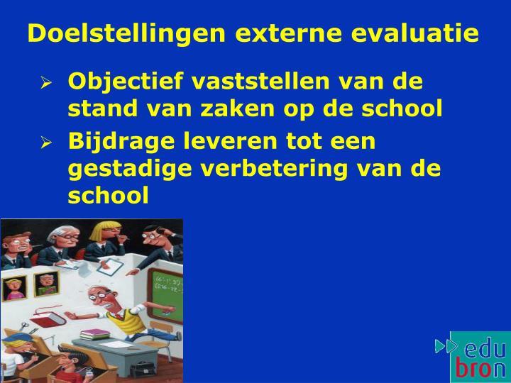 Doelstellingen externe evaluatie
