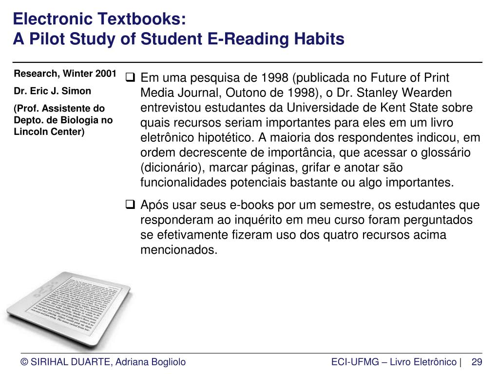 Electronic Textbooks: