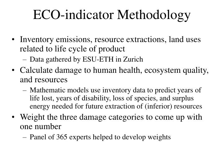 ECO-indicator Methodology
