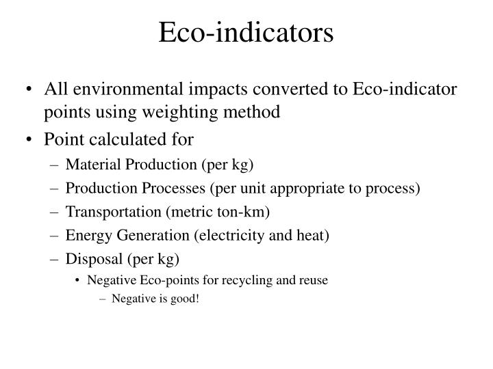 Eco-indicators