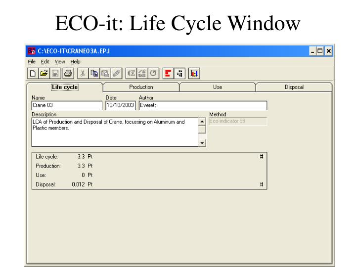 ECO-it: Life Cycle Window