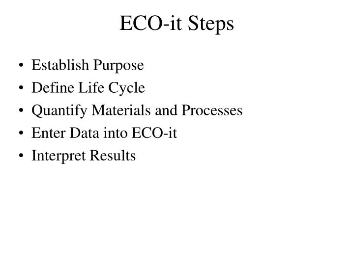 ECO-it Steps
