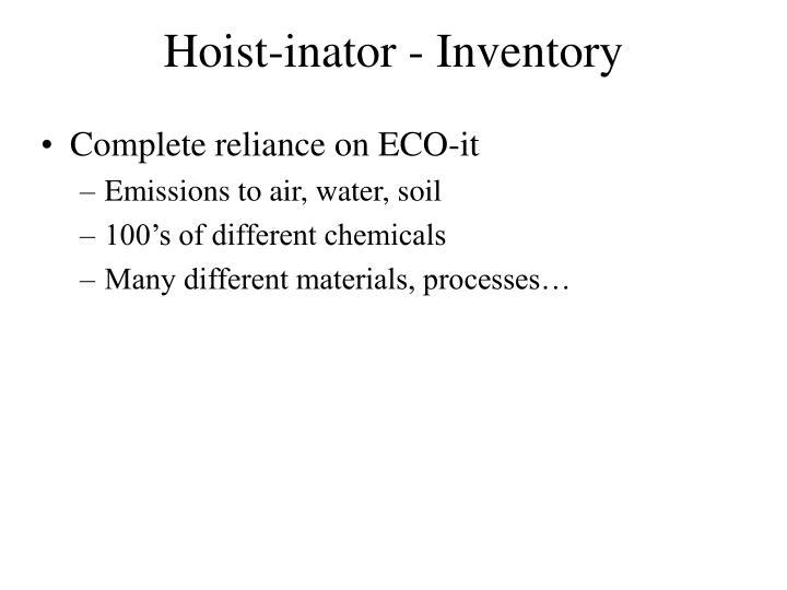 Hoist-inator - Inventory