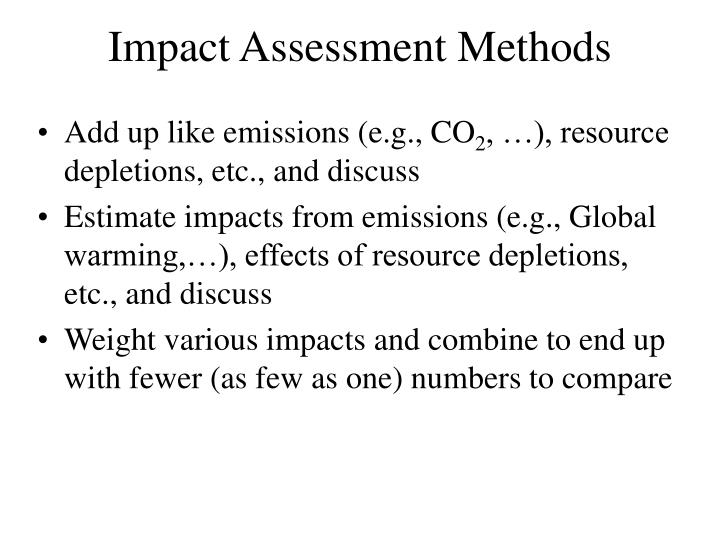 Impact Assessment Methods