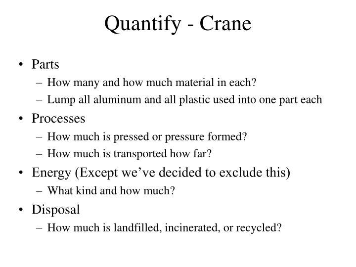 Quantify - Crane