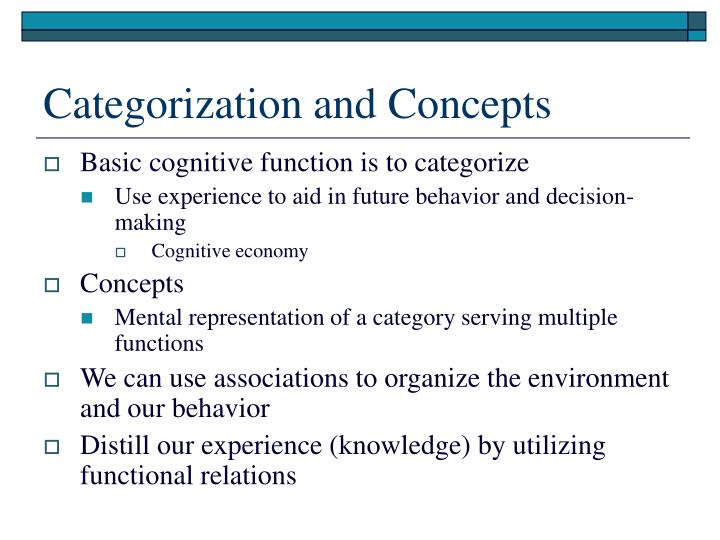 Categorization and Concepts