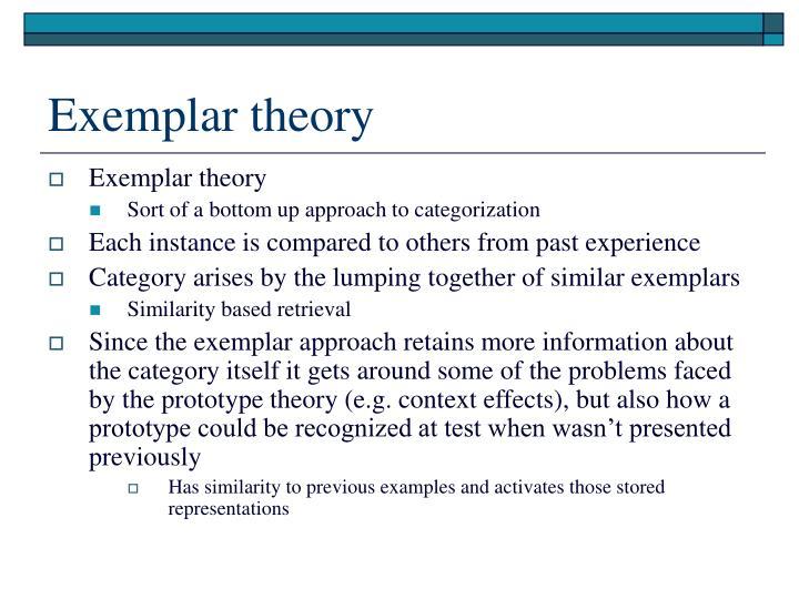 Exemplar theory