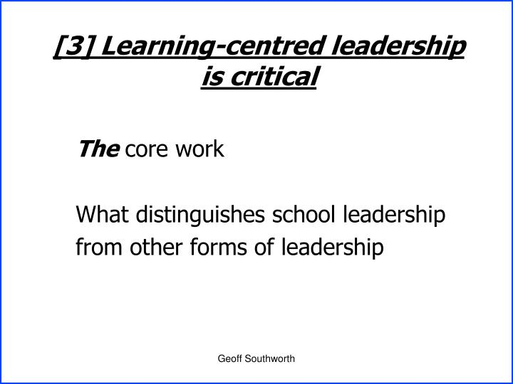 [3] Learning-centred leadership