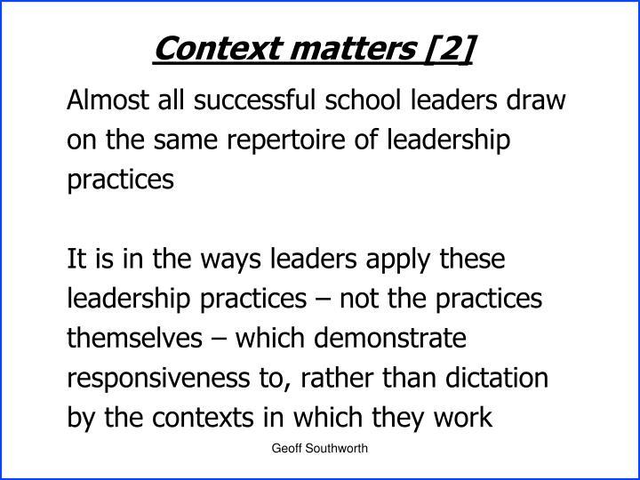 Context matters [2]