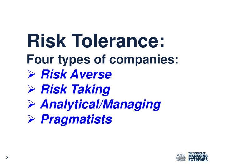 Risk Tolerance: