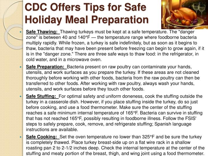 CDC Offers Tips for Safe