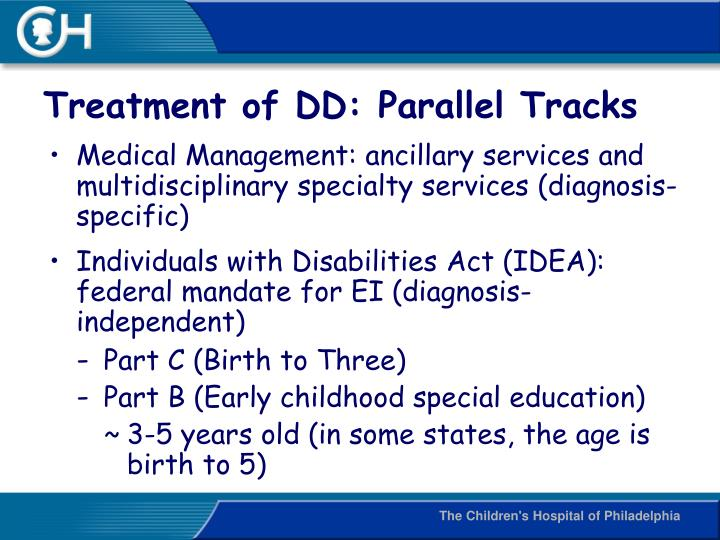 Treatment of DD: Parallel Tracks