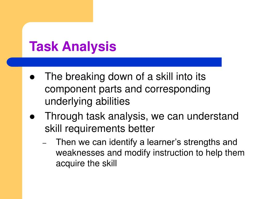 an analysis of motor abilities Study 39 test 1 flashcards from logan m on studyblue a task analysis is an essential part of identifying the motor abilities that underlie the performance of.