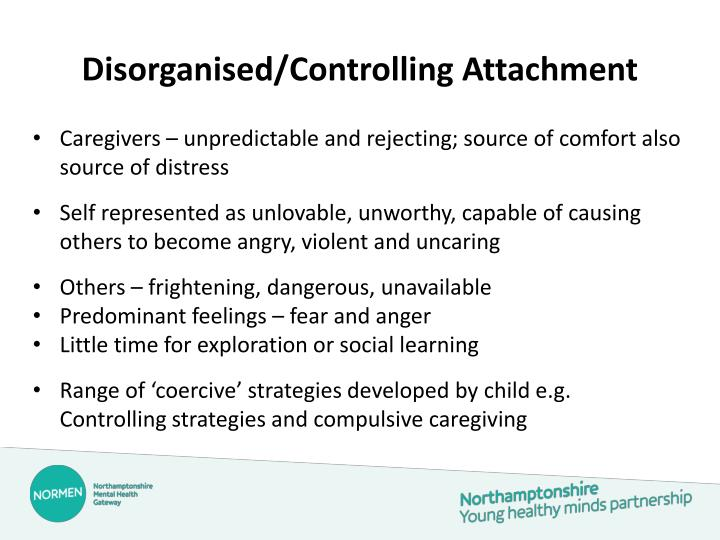 Disorganised/Controlling Attachment