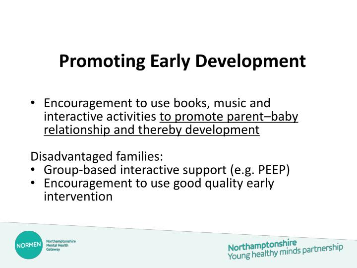 Promoting Early Development