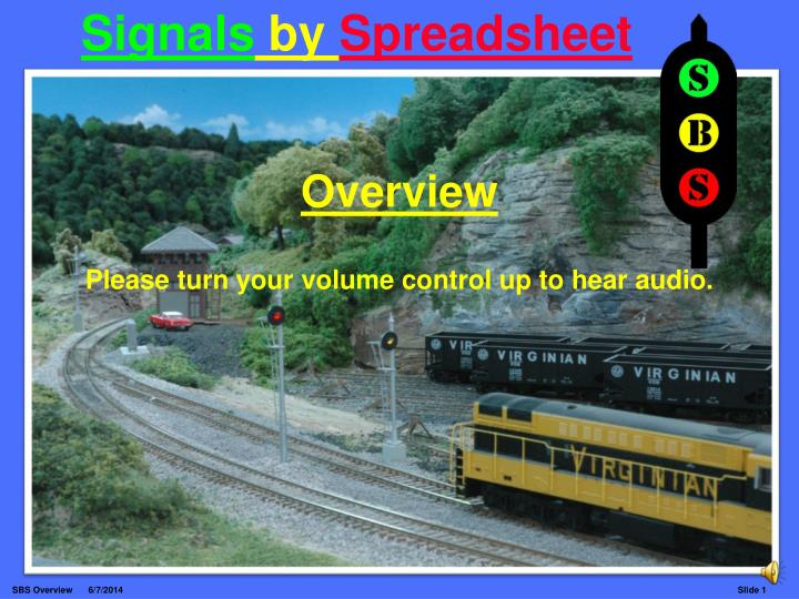 Signals by spreadsheet