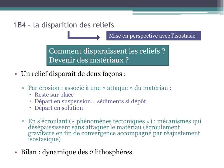1B4 – la disparition des reliefs