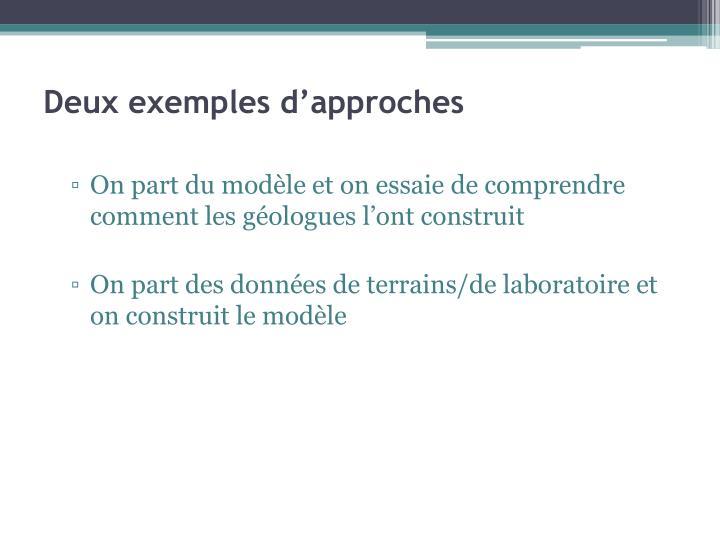 Deux exemples d'approches
