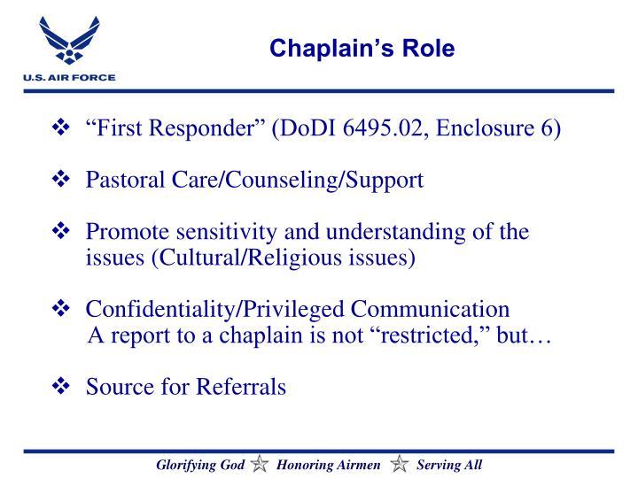 Chaplain's Role