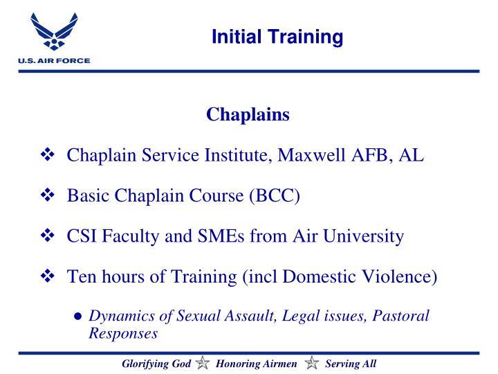 Initial Training
