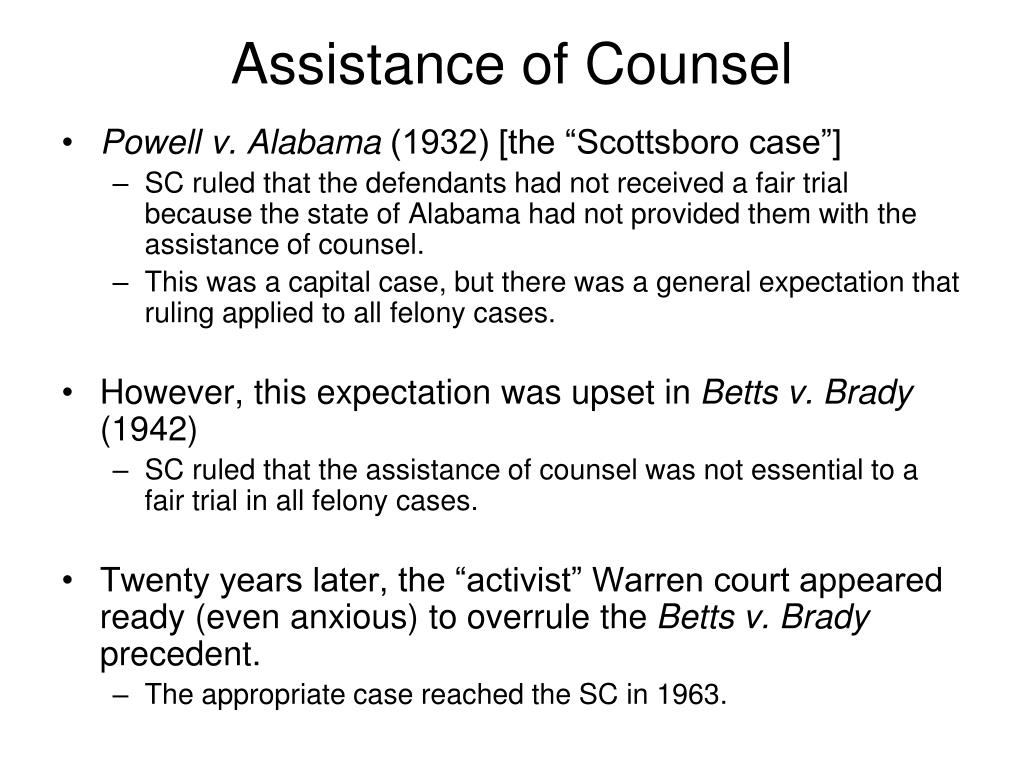 Assistance of Counsel
