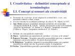 i creativitatea delimit ri conceptuale i terminologice i 1 concept i sensuri ale creativit ii