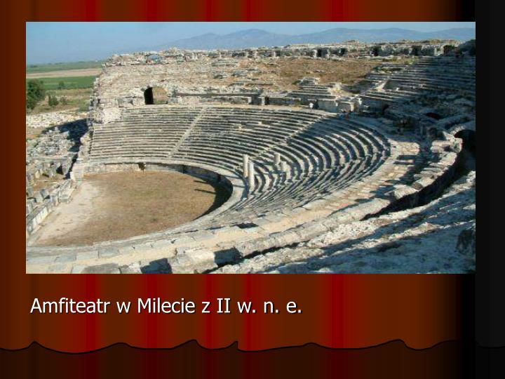 Amfiteatr w Milecie z II w. n. e.