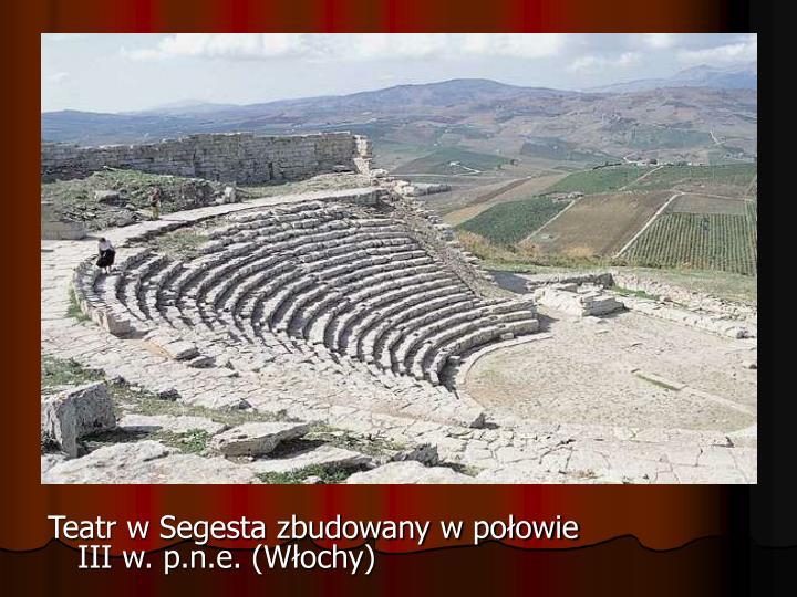 Teatr w Segesta zbudowany w połowie