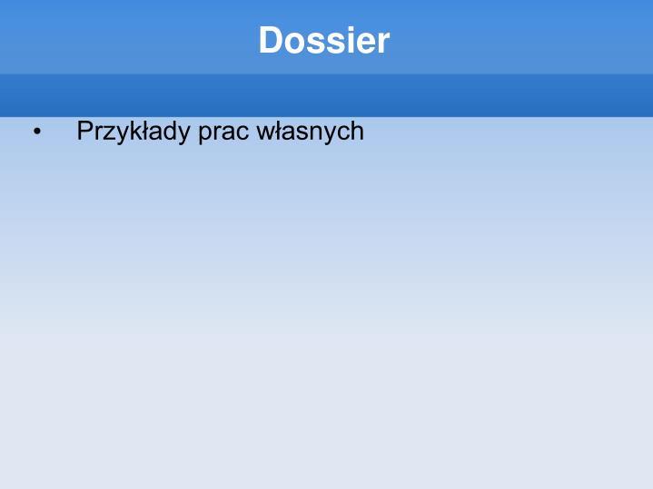 Dossier