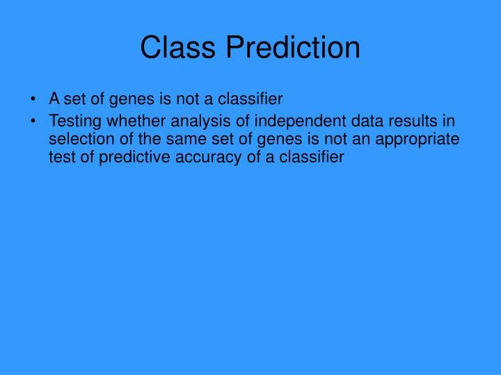 Class Prediction