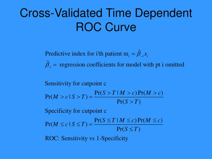 Cross-Validated Time Dependent ROC Curve