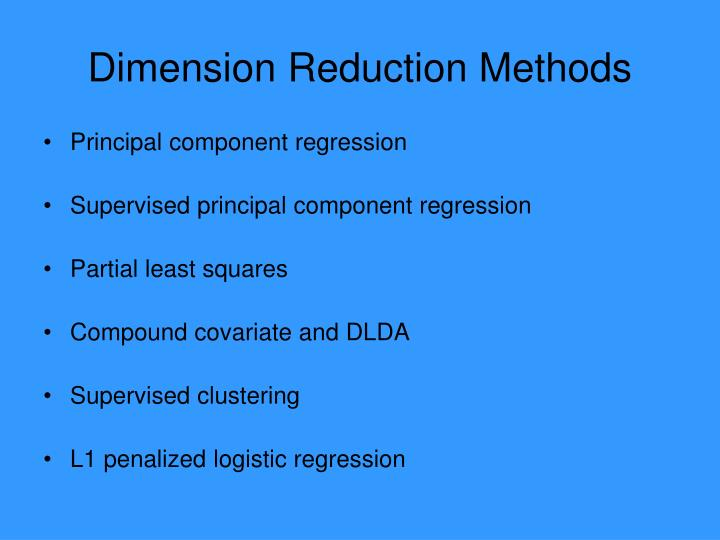 Dimension Reduction Methods