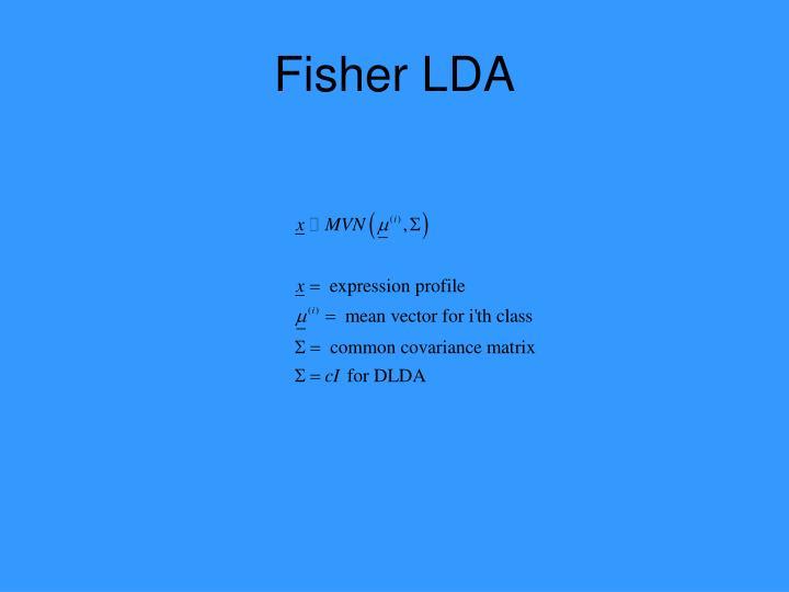 Fisher LDA