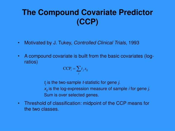 The Compound Covariate Predictor (CCP)
