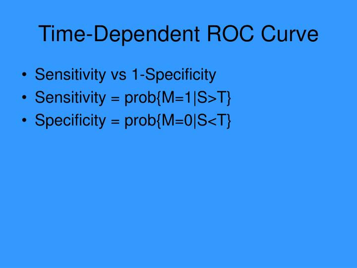 Time-Dependent ROC Curve
