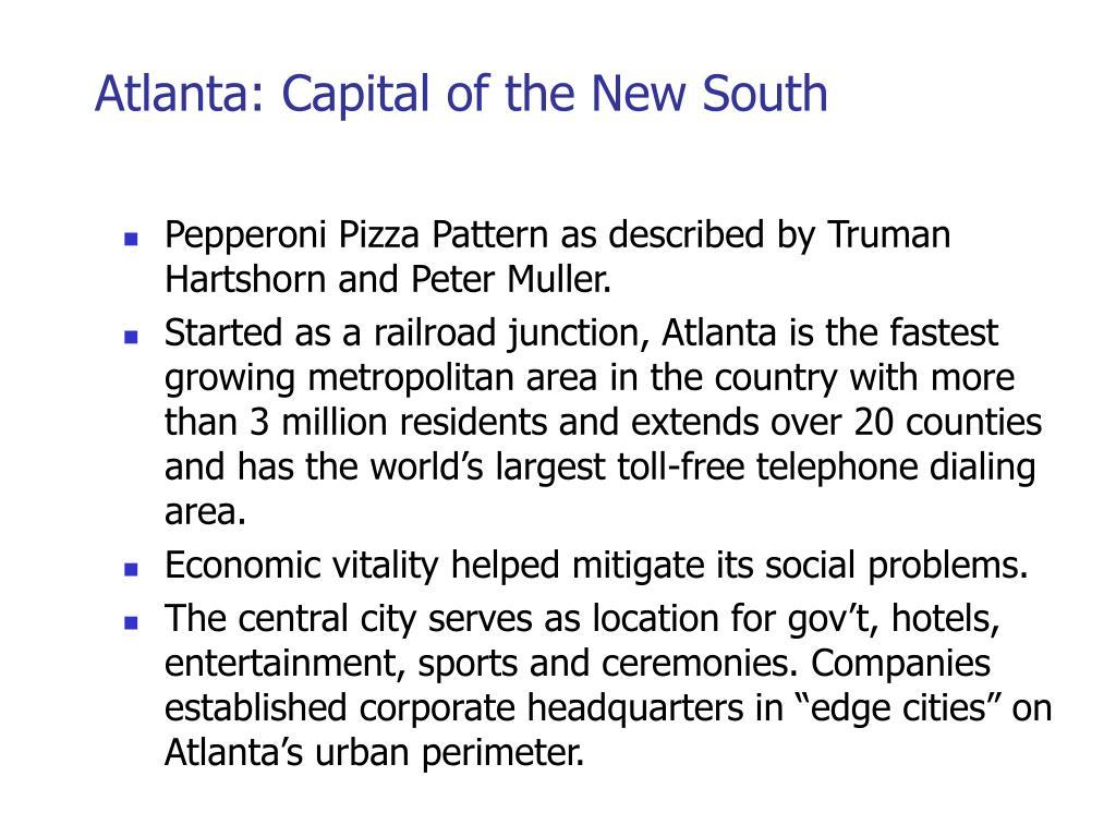 Atlanta: Capital of the New South