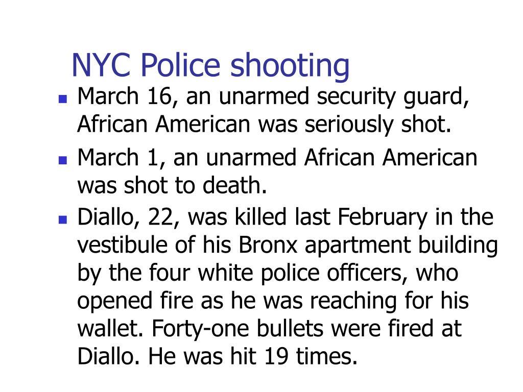 NYC Police shooting
