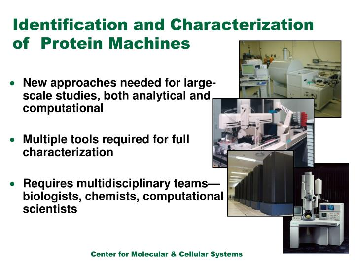 Identification and Characterization of  Protein Machines